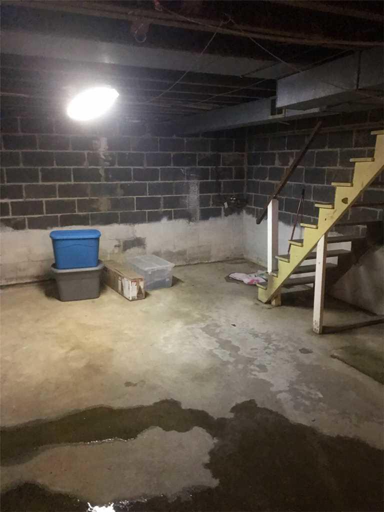 Basement Waterproofing in Glen Mills, PA - Before Photo