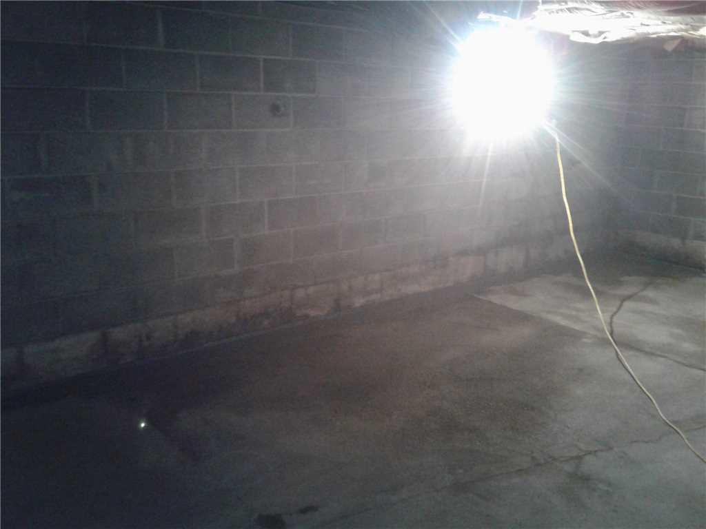 Basement Waterproofing in East Earl, PA - After Photo
