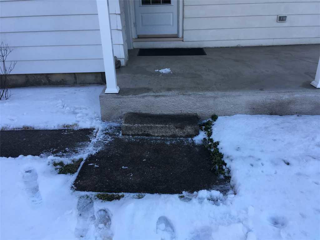 Concrete Step Leveling in Oxford, Pa - Before Photo