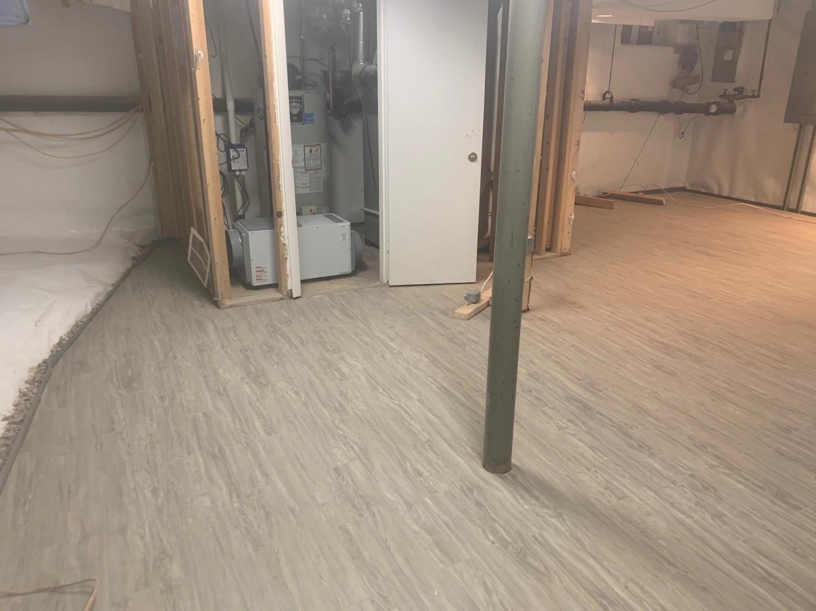Basement Floor Installation in Wayne, PA - After Photo