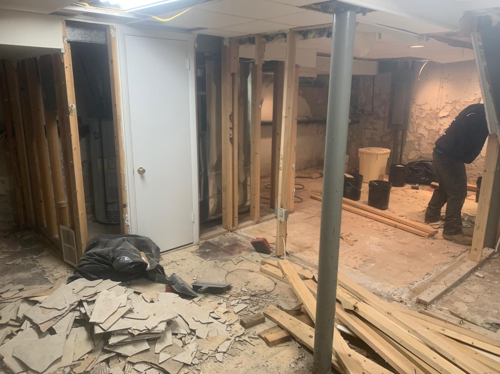 Basement Floor Installation in Wayne, PA - Before Photo