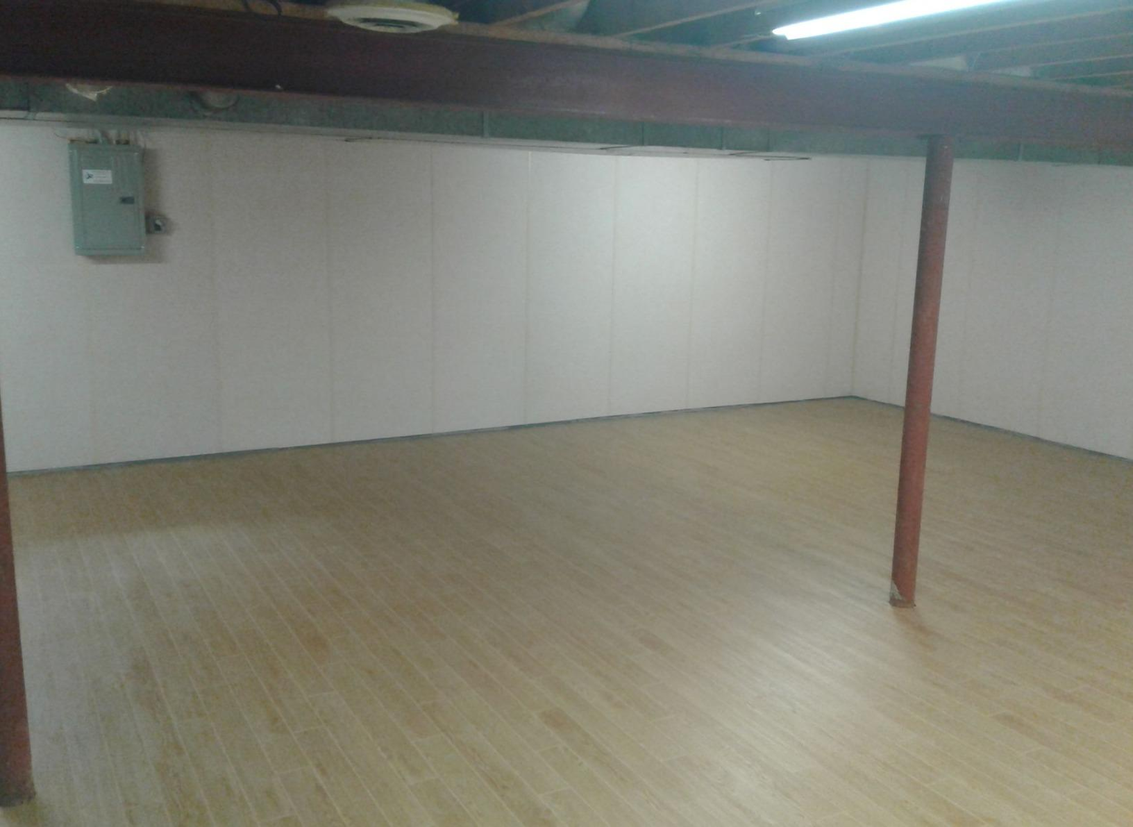 Basement Waterproofing and Flooring in Ambler, PA - After Photo
