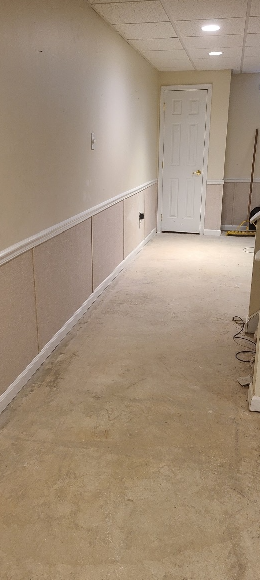 Basement Wall Repair - After Photo