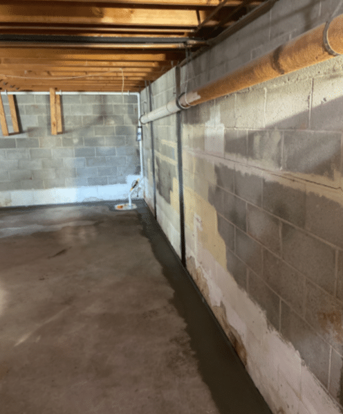Spring City, PA in Basement Puddle - After Photo