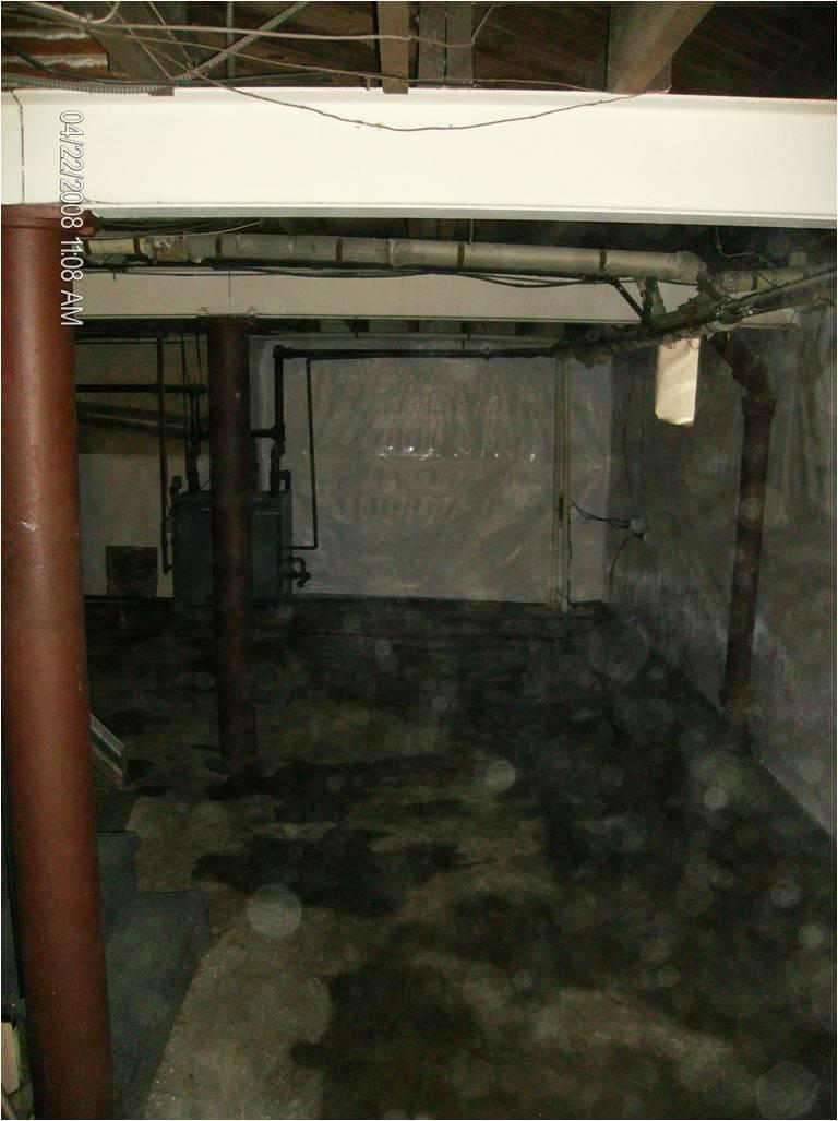 Moisture Problem in PA Basement - Before Photo