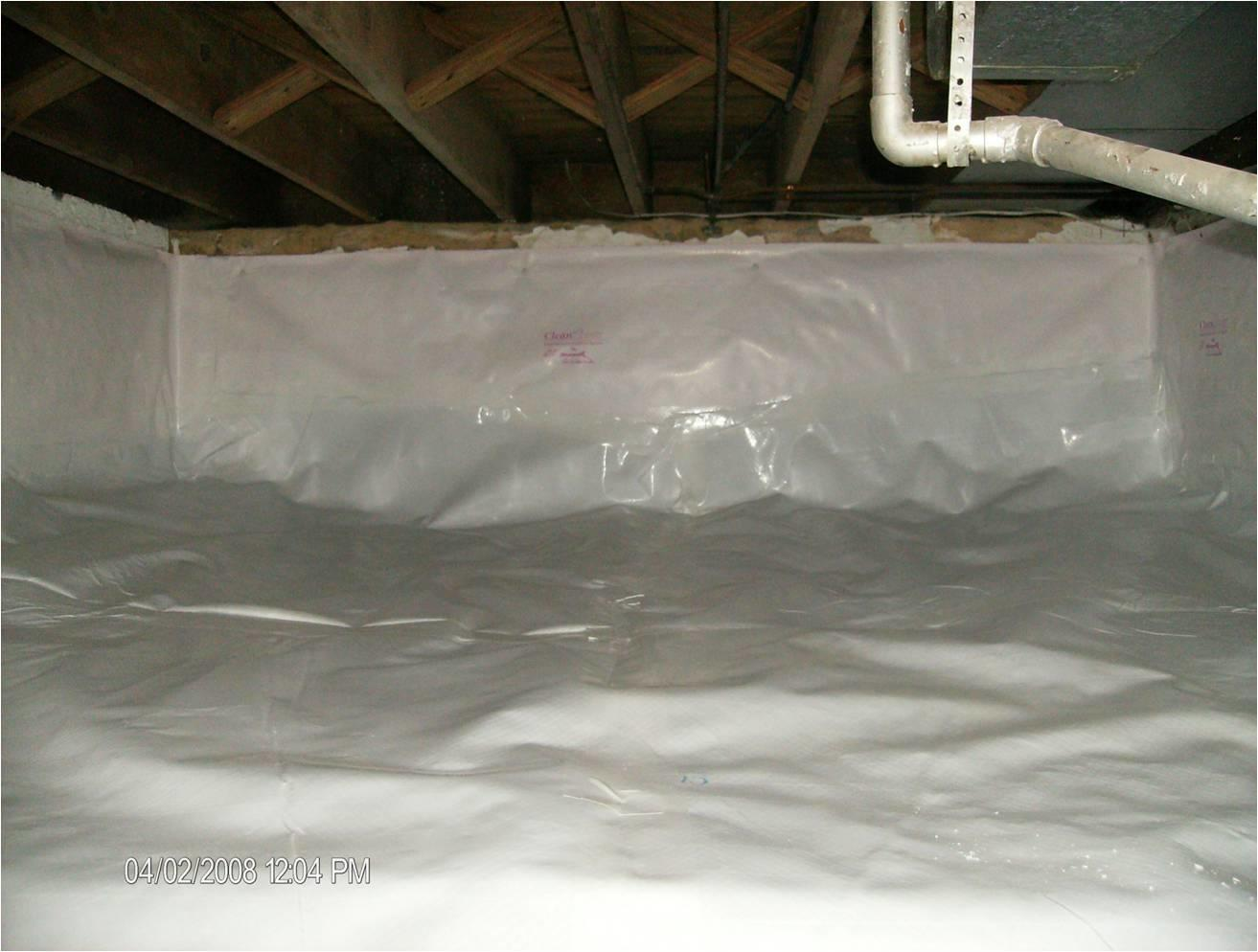Protective Liner Installed in PA Crawl Space - After Photo