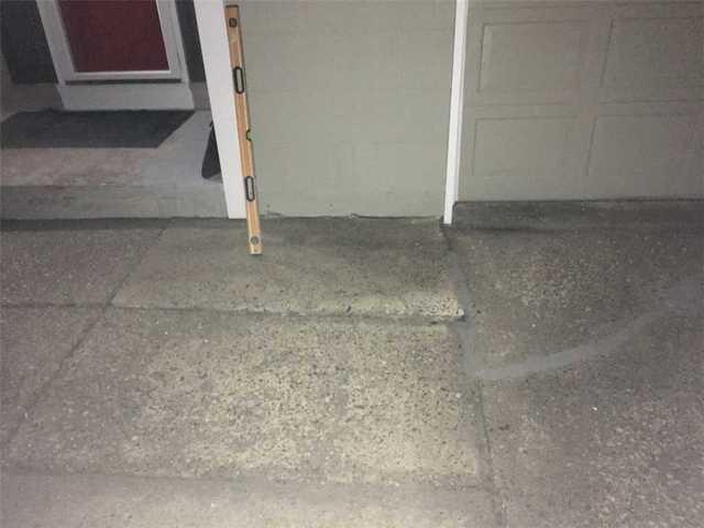 Uneven Concrete Walkway in Beverly, NJ