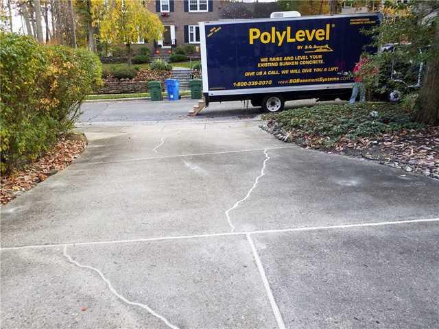 Uneven and Cracked Concrete Driveway in Cherry Hill, NJ