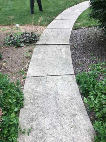 Sinking Concrete Walkway in Schnecksville, Pa