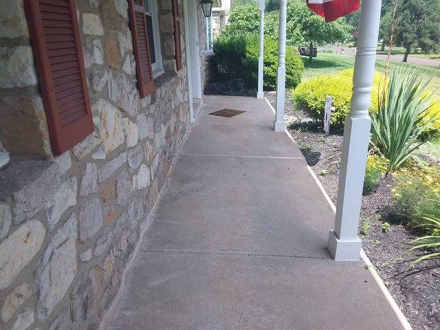 Concrete Porch Leveling in Conestoga, Pa - After Photo