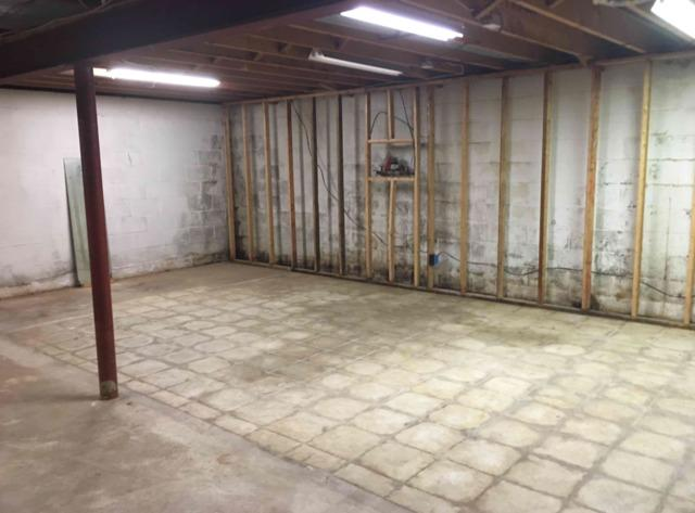 Basement Waterproofing and Flooring in Ambler, PA - Before Photo