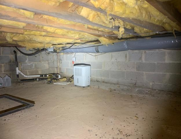 Wet Crawl Space in Horsham, PA