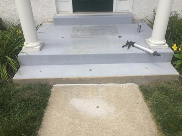 Sunken Concrete Steps in West Chester, PA