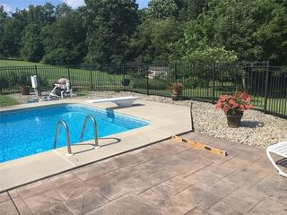 Honey Brook, PA Pool with Sinking Patio
