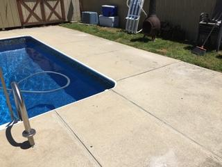Sunken Pool Deck in Lansdowne, PA