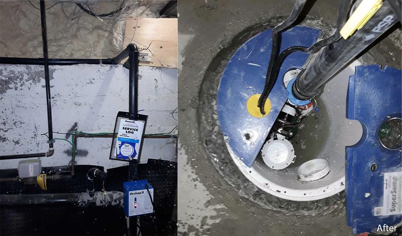 Stinky Sump Pump in Mississauga, Ontario - After Photo