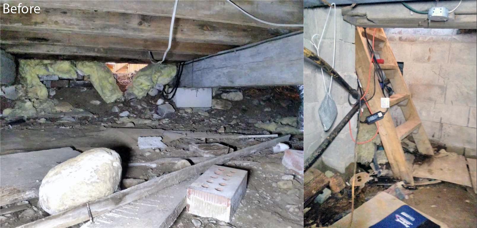 Crawl Space Leaves Cottage Smelling Musty in Fenelon Falls, Ontario - Before Photo