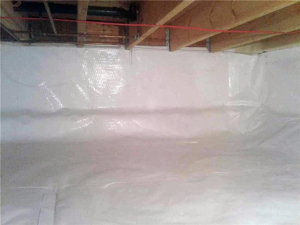 Damp Crawl Space Stinks Up Cottage in Miller Lake, Ontario - After Photo