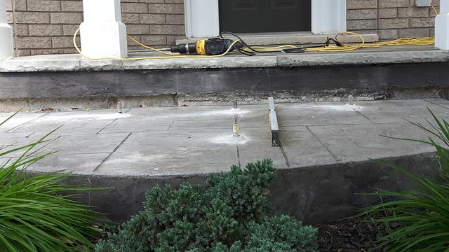 Front Entrance Step Lift in Oakville, ON - Before Photo
