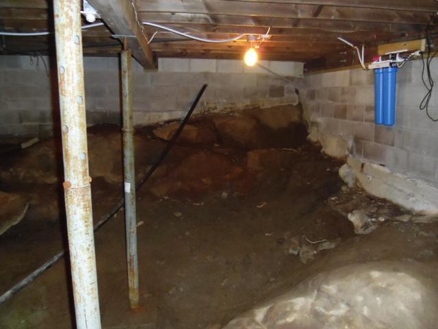 Wet Cottage Crawl Space in Kapigog Lake, ON