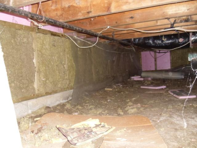 Waterproofing and Supporting a Crawl Space in Innisfil, ON