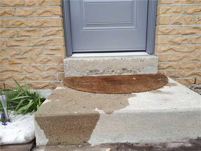 Filling Voids Underneath Front Step in Mississauga, ON