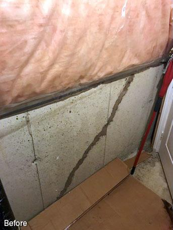 Wall Crack Repair Using FlexiSpan® in Brampton, Ontario