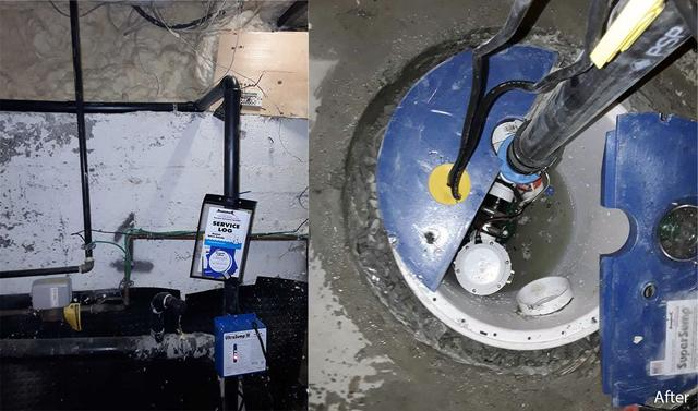 Stinky Sump Pump in Mississauga, Ontario