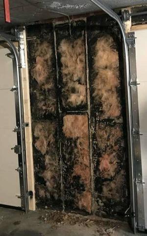 Leaking Walls Soak Garage Belongings in Toronto, Ontario