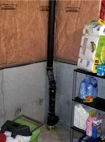 Form Tie Crack Soaks Storage Area in Ajax, Ontario