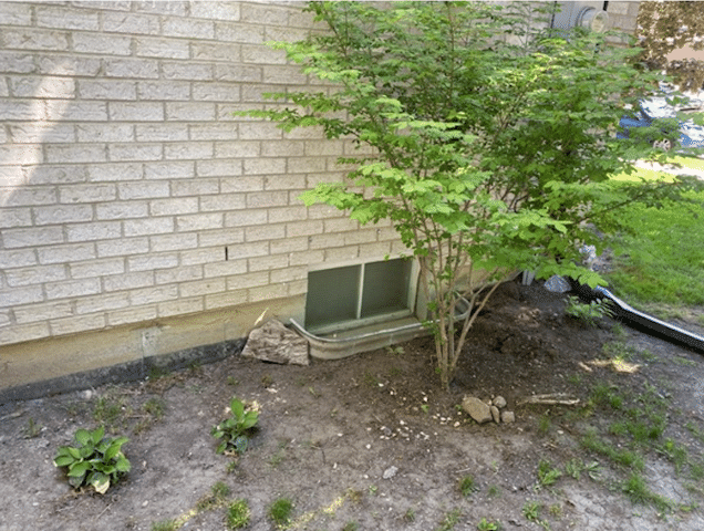 Old Window Well Pulls Away from Home in Markham, Ontario