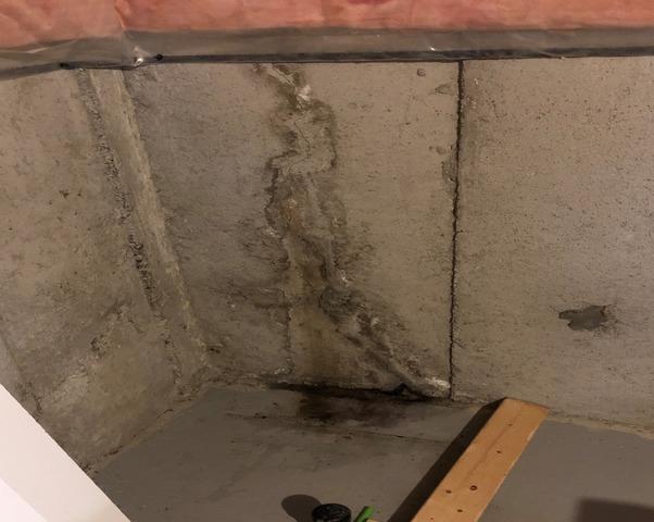 Two Wall Cracks Postpone Basement Renovation in Stouffville, Ontario