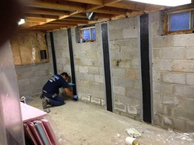 CarbonArmor System to help with wall bowing, Burlington, ON - After Photo