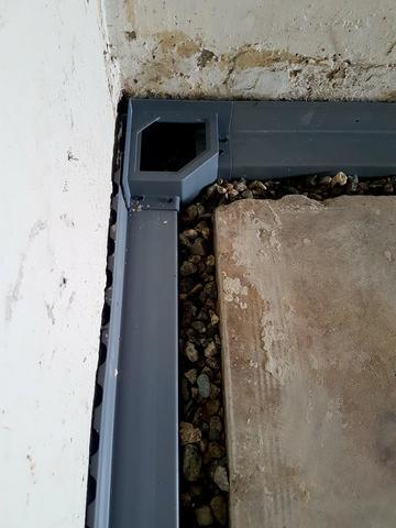 Water Guard- Interior drainage system in Santa Barbara Ca - Before Photo