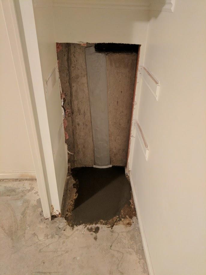 Five Foot Wall Crack Repair in Bountiful - After Photo