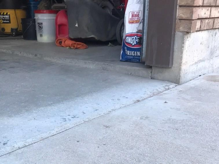 Sunken garage in Manti, Utah - Before Photo