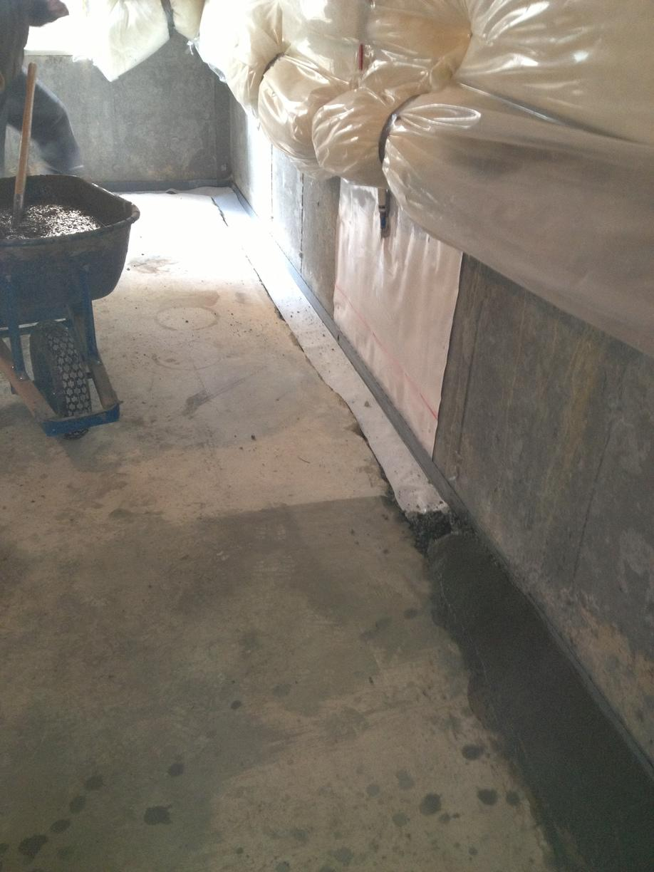 Waterproofing Before & After with Efflorescence - After Photo