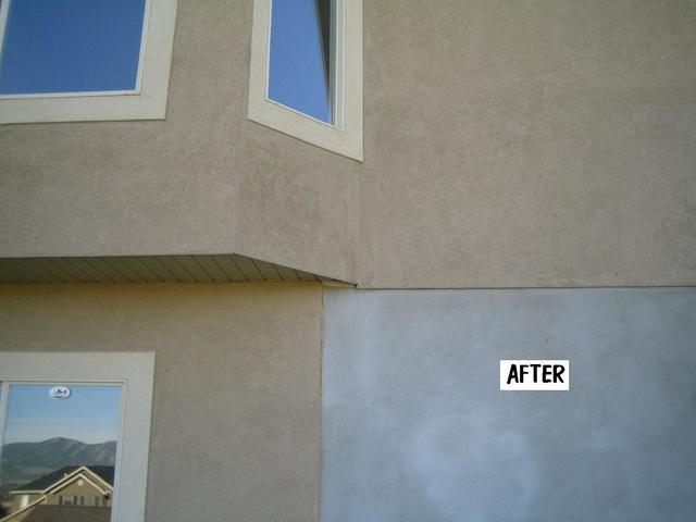 Substantial Settling Before and After