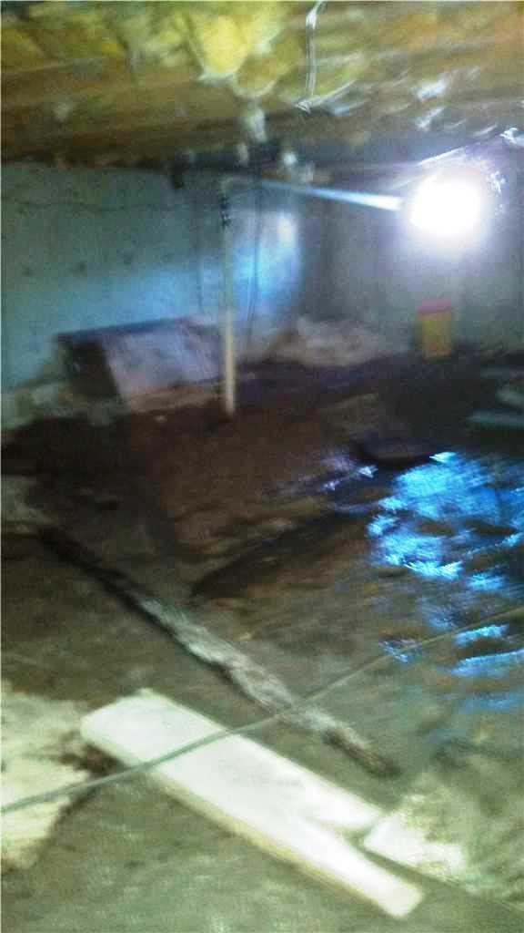 Wet Crawlspace Fixed in East Berlin, PA - Before Photo