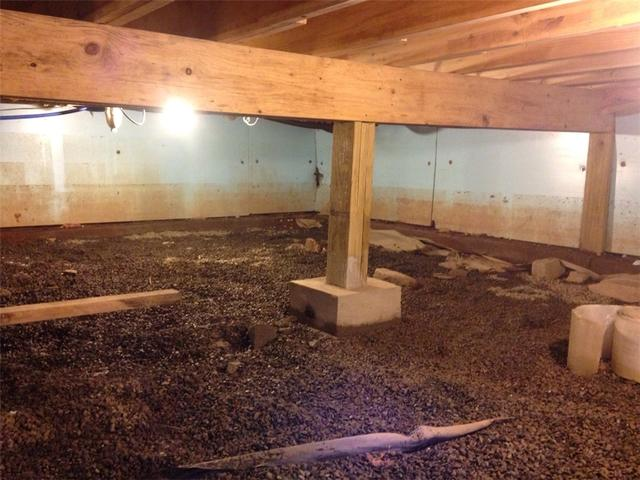 Damp and Dirty Crawlspace Encapsulated in Albrightsville, PA