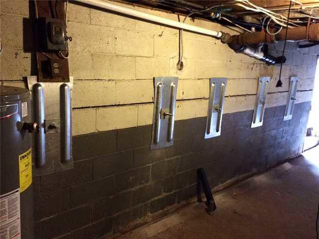 Bowed walls supported in Biglerville!