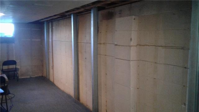 PowerBraces Support Basement Wall in Duncansville, PA