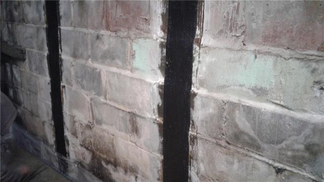 Carbon Fiber Strips Stabilize Foundation in Bellefonte