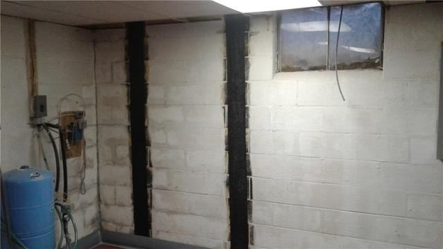 Carbon Fiber Strips Stop Bowing Wall in Greencastle, PA - After Photo