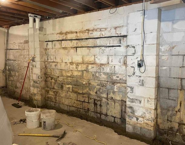 Basement Waterproofing in Eden, NY - Before Photo