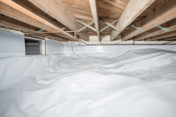 Crawl Space Insulation & Vapor Barrier Installation - After Photo