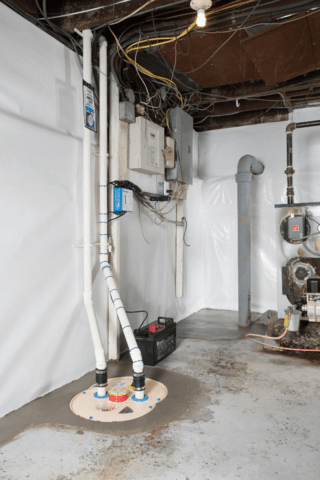 Basement Sump Pump Replacement - After Photo
