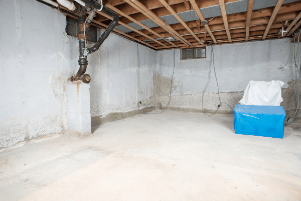 Basement Drainage Solutions - Before Photo