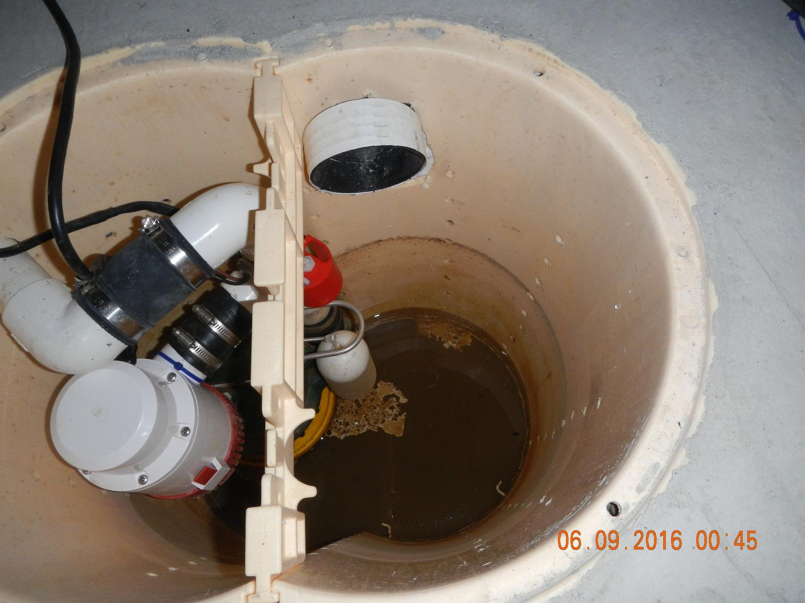 Annual Sump Pump Service in Anacortes Crawl Space - Before Photo