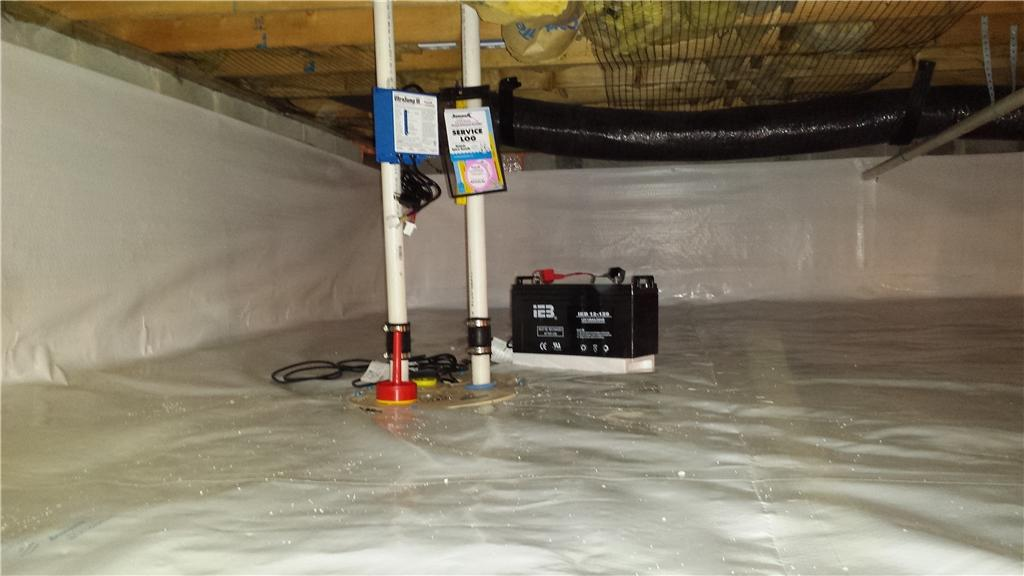 A Wet Crawl Space in Greenwood, DE is Transformed - After Photo